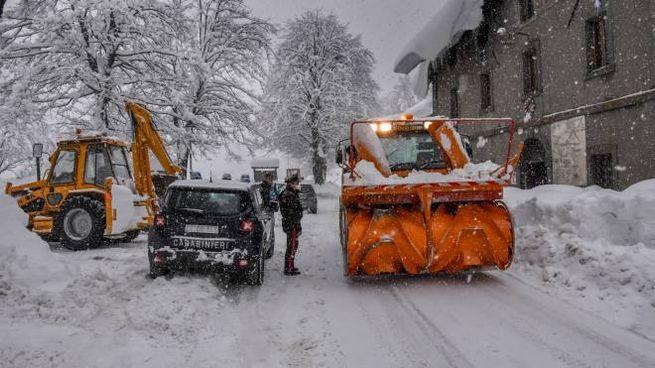 Neve in Garfagnana (Foto Borghesi)