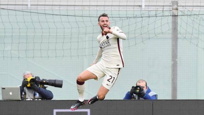 Borja Mayoral  in gol contro il Crotone (Ansa)