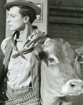 "Buster Keaton in ""Go West"""