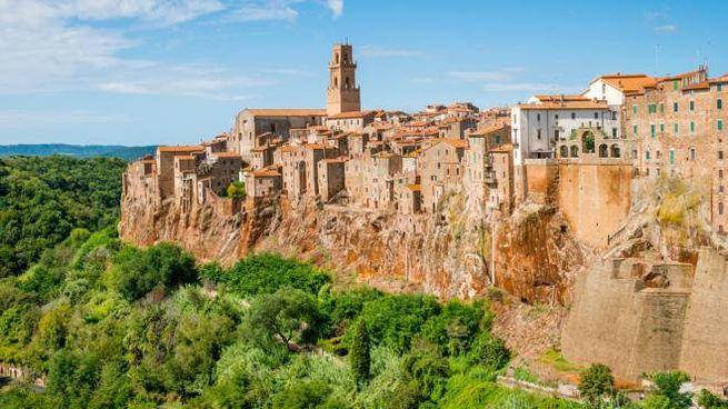Il borgo di Pitigliano, in Toscana