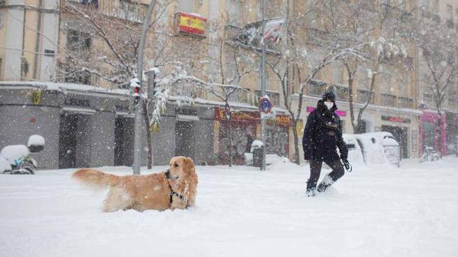 Olimpia Milano ferma a Madrid per neve: aeroporto di Barajas chiuso