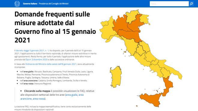 Cartina Dell Italia Con Province.Zone Italia Da Oggi Regioni Gialle E Arancioni Cartina Regole Autocertificazione Cronaca