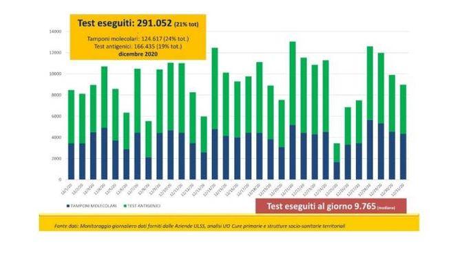 Covid Veneto, il grafico delle Usca (Fonte Regione Veneto)