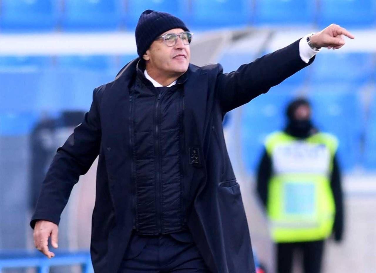 Pasquale Marino, tecnico dei biancazzurri che oggi saranno impegnati in Coppa contro il Sassuolo (foto BusinessPress)
