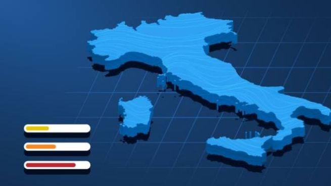 Italia divisa in zona gialla, aracione e rossa