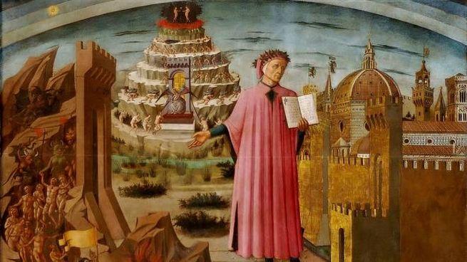 Dante e la Divina Commedia nell'affresco di Domenico di Michelino nel Duomo di Firenze