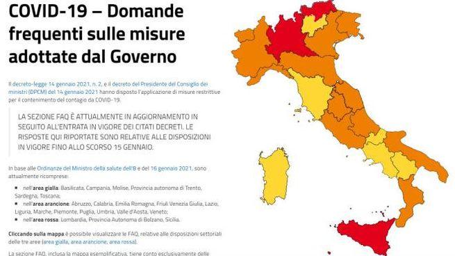 Covid, l'Italia e i colori delle Regioni