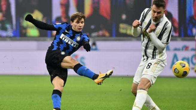 Nicolò Barella, migliore in campo con la Juventus
