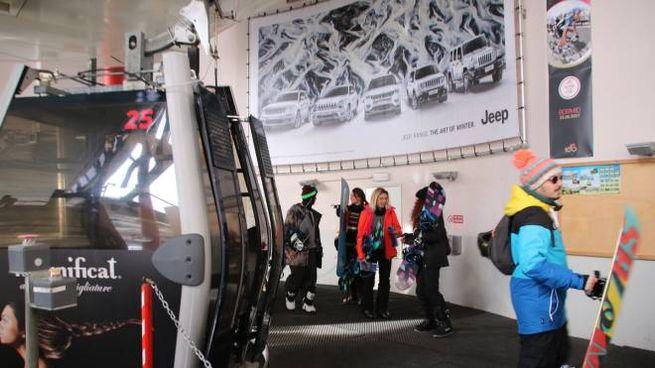 Sciatori a Bormio, in Alta Valtellina