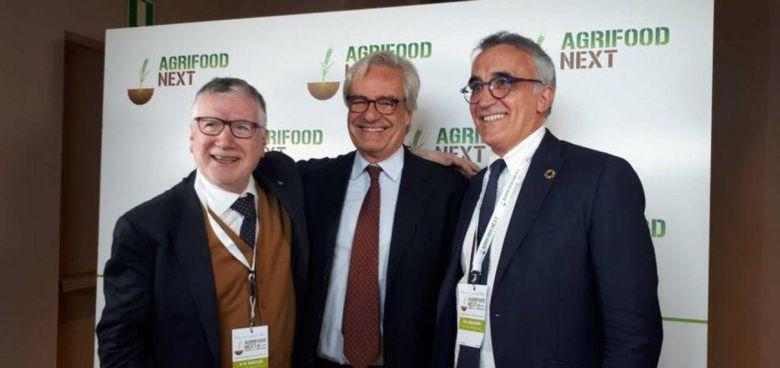 Il presidente della Fondazione Prima Angelo Riccaboni con Paolo Glisenti, commissario Expo Dubai
