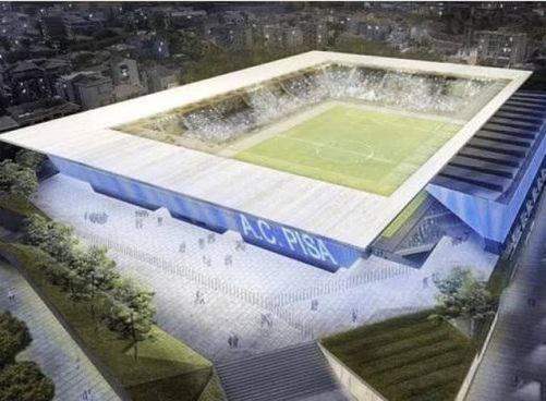 Il rendering del nuovo stadio nel quartiere di Porta a Lucca, al centro della trattativa insieme alla squadra