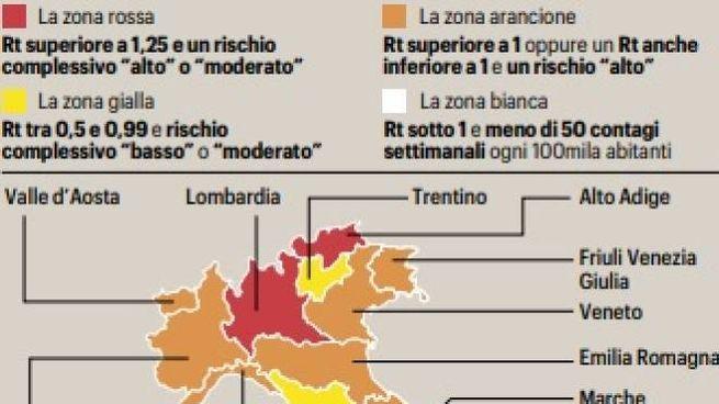 """Le zone Covid del nuovo Dpcm: una """"chimera"""" la zona bianca"""