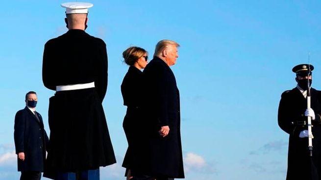 Donald Trump e Melania (Ansa)