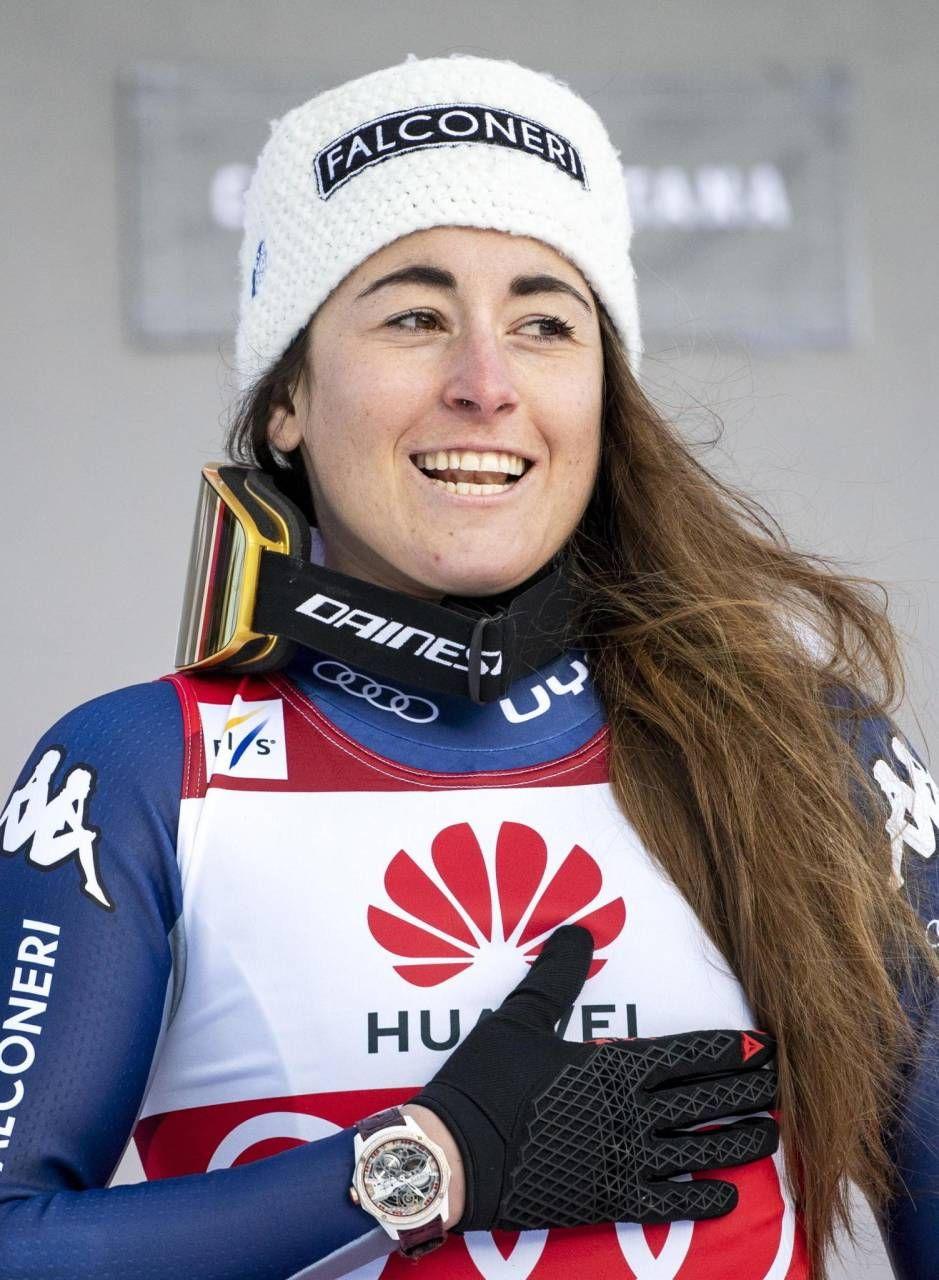 Sofia Goggia, bergamasca di 28 anni, è campionessa olimpica di discesa libera