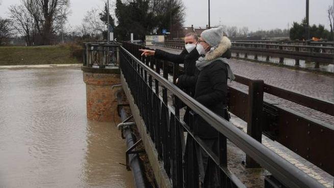 Modena, riaperti i ponti sul Secchia (FotoFiocchi)