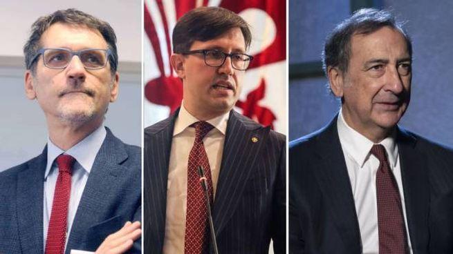 I sindaci Merola (Bologna), Nardella (Firenze) e Sala (Milano)