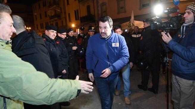 Matteo Salvini al Pilastro la sera del 21 gennaio del 2020