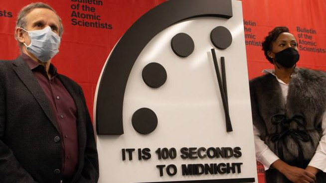 Il Doomsday Clock - Foto: Bulletin of the Atomic Scientists/Thomas Gaulkin