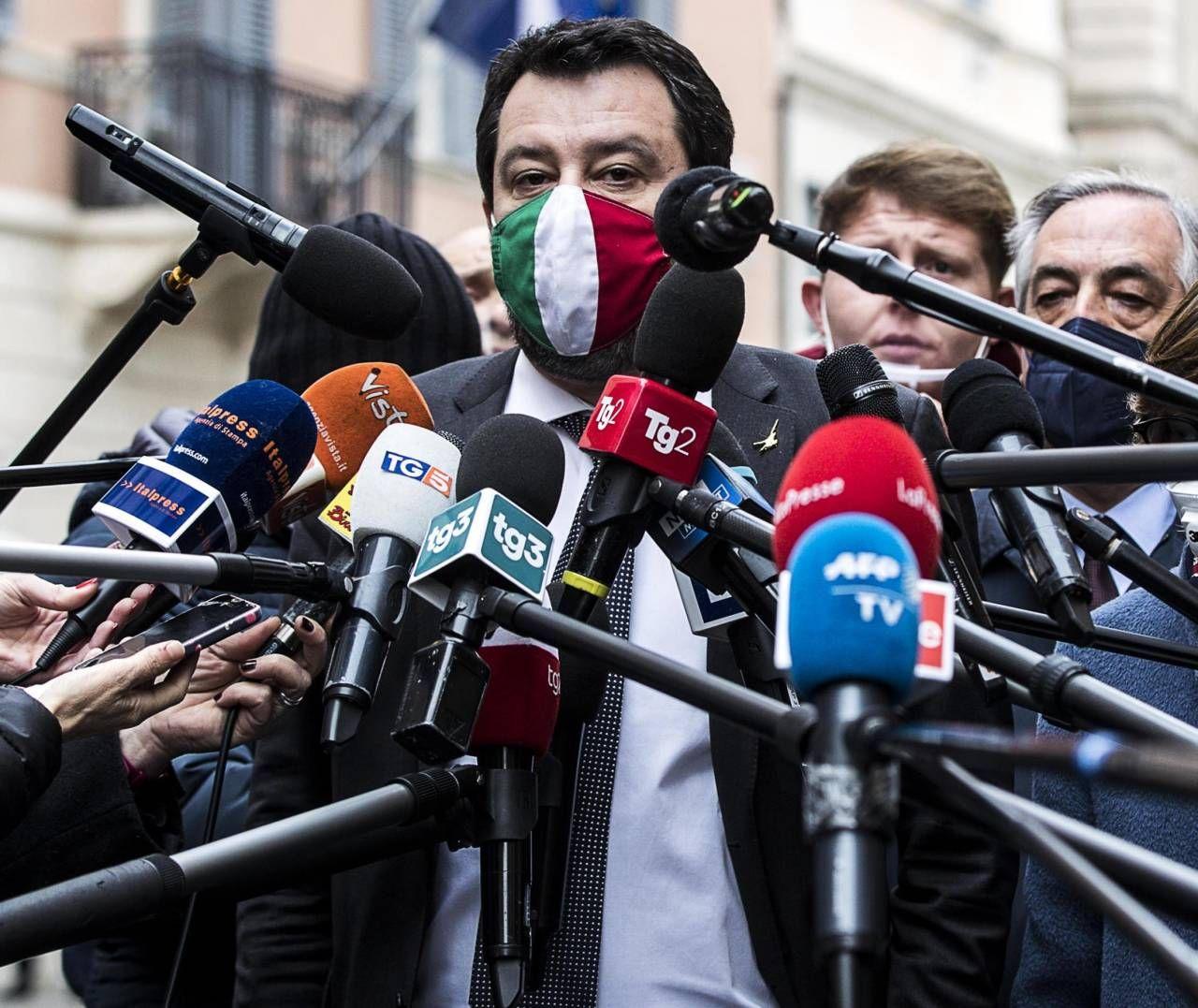 Matteo Salvini, 47 anni, è leader della Lega ed ex ministro dell'Interno