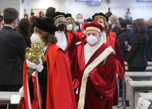 Un momento dell'inaugurazione dell'anno giudiziario nel distretto di Catanzaro