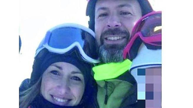 Valeria Coletta, 35 anni, e Fabrizio Marchi, 40 anni, durante una vacanza sulla neve