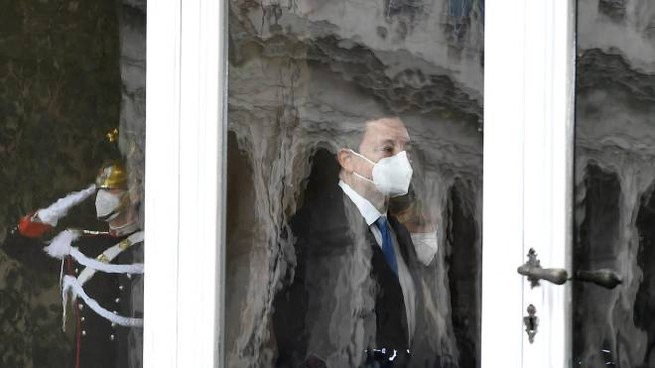 Mario Draghi al Quirinale (Ansa)