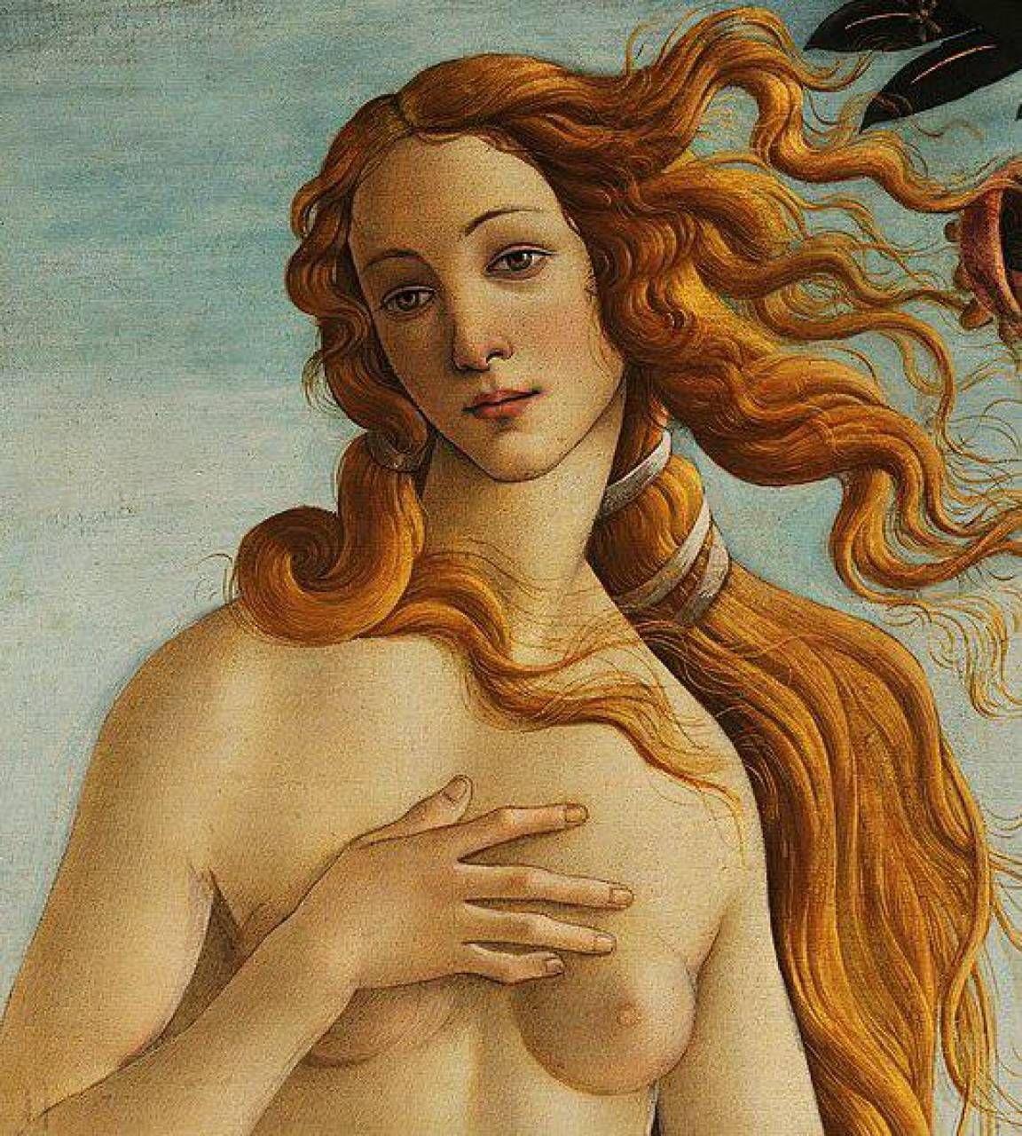 Il presidente. di Chili Giorgio Tacchia e, accanto, la Venere di Botticelli