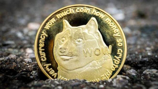Il logo di Dogecoin