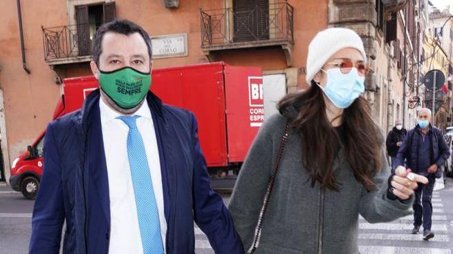 Matteo Salvini e Francesca Verdini (ImagoE)