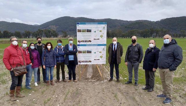 I partecipanti al sopralluogo nelle aree di intervento del progetto EU Phusicos
