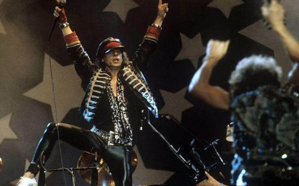 Klaus Meine degli Scorpions a Mosca, al Music Peace Festival del 1989