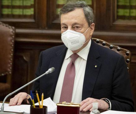 Mario Draghi, 73 anni, presidente del Consiglio incaricato, ieri alla Camera