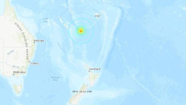 Terremoto al largo della Nuova Caledonia