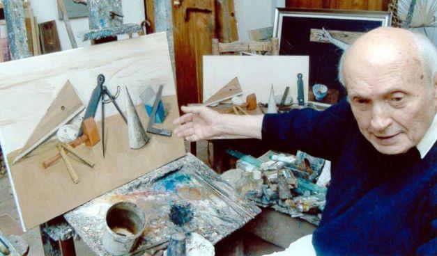 Giulio Ruffini nel suo studio