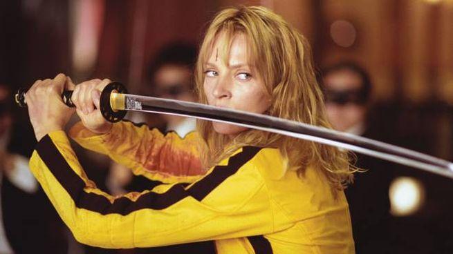 Una famosa inquadratura di 'Kill Bill', ricreata in casa dai fan - Foto: Miramax Films