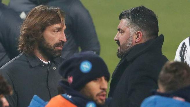Andrea Pirlo e Gennaro Gattuso (Ansa)