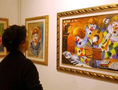 Una mostra delle opere di Romano Mussolini, figlio del Duce morto nel 2006