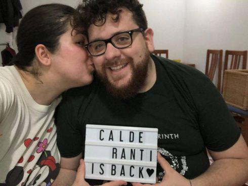 L'immagine postata il giorno in cui Chiara e Raül si sono ricongiunti a Barcellona dopo mesi di forzata lontananza causa lockdown
