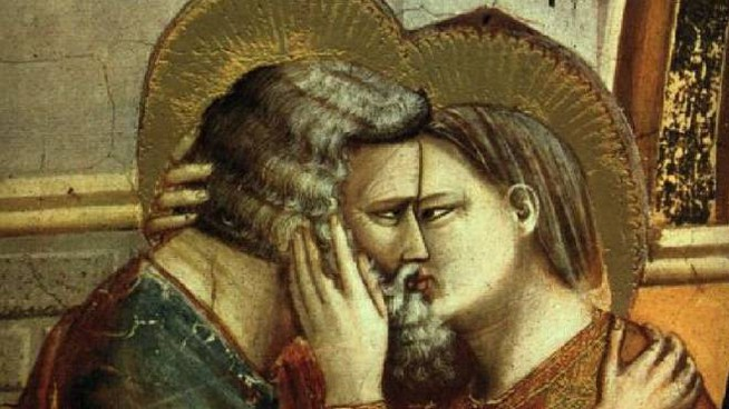 Il primo bacio della storia dell'arte lo racconta Giotto nel Trecento