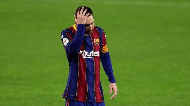 La disperazione di Messi