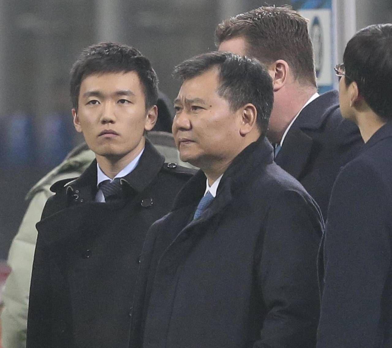 Steven Zhang, 29 anni, n.1 dell'Inter e il padre Zhang Jindong (57), capo di Suning