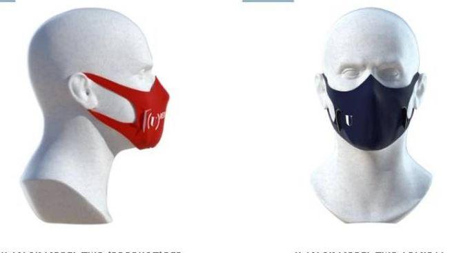 La mascherina 'U-Mask Model 2' in vari colori