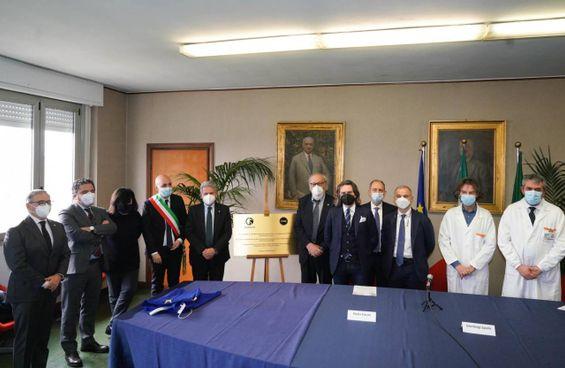 Le autorità presenti all'evento di ieri mattina nel capoluogo della Bassa