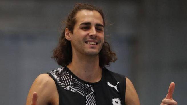Gianmarco Tamberi, 28 anni marchigiano, campione italiano degli Assoluti indoor
