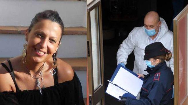 Omicidio di Bondeno, a sinistra Rossella Placati e a destra le indagini