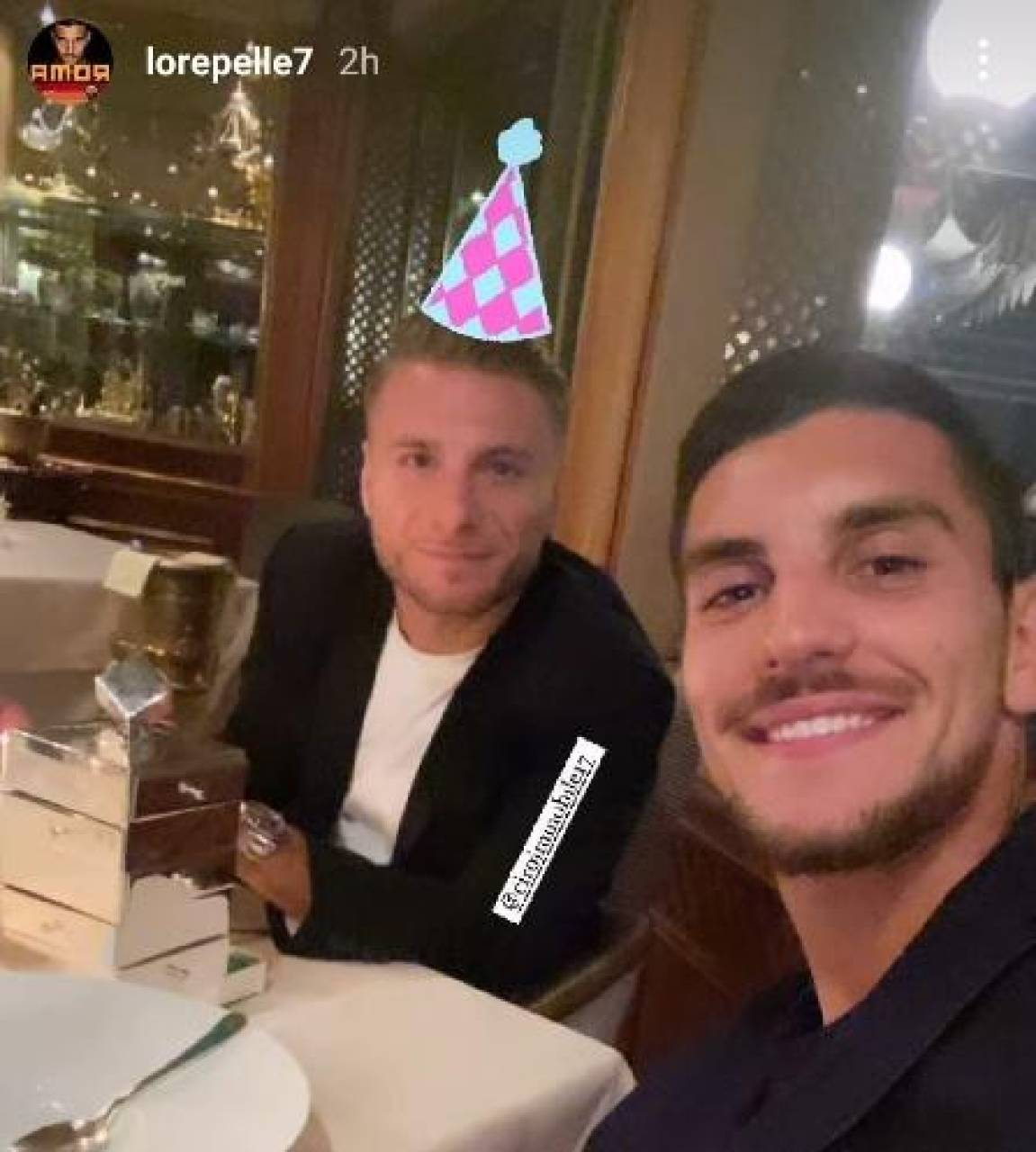 Il post Instagram di Lorenzo Pellegrini con Ciro Immobile che ha scatenato i romanisti