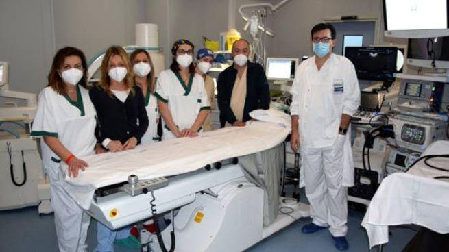 Il dottor Raffaele Macchiarelli e  lo staff