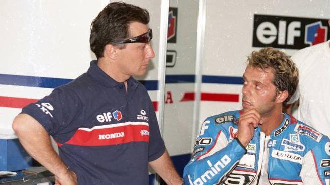 Fausto Gresini con Loris Capirossi (foto Isolapress)