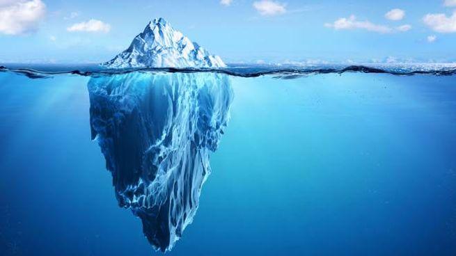 Concept di un iceberg: una rappresentazione molto comune, ma sbagliata