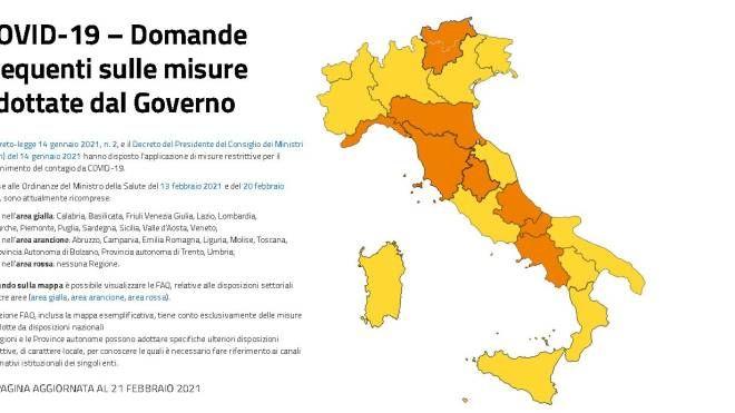 Cartina Italia E Province.Zona Arancione Rafforzata E Rossa La Nuova Mappa Covid Le Regole Regione Per Regione Cronaca